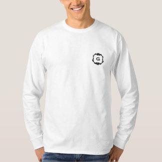 Black frame monogram   embroidered shirt