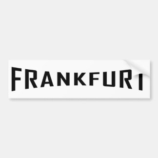 black Frankfurt icon Bumper Sticker