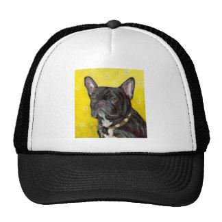 Black French Bulldog Mesh Hats