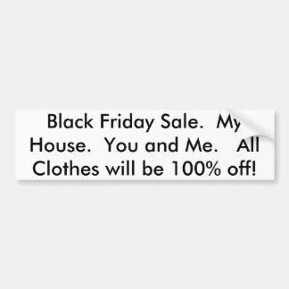 Black Friday Sale Bumper Sticker