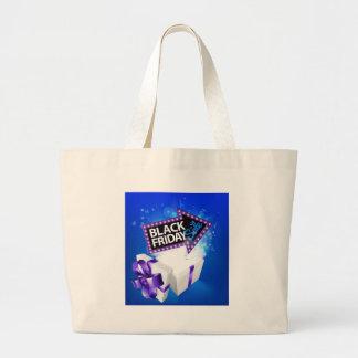 Black Friday Sale Gift Bow Design Large Tote Bag