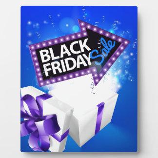 Black Friday Sale Gift Bow Design Plaque