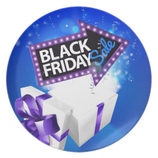 Black Friday Sale Gift Bow Design Plate