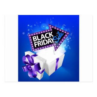 Black Friday Sale Gift Bow Design Postcard