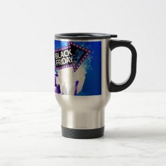 Black Friday Sale Gift Bow Design Travel Mug