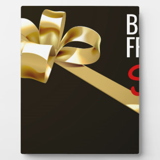Black Friday Sale Gold Ribbon Gift Bow Design Plaque