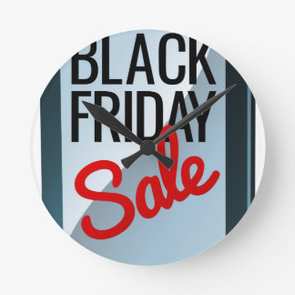 Black Friday Sale Mobile Phone Sign Round Clock