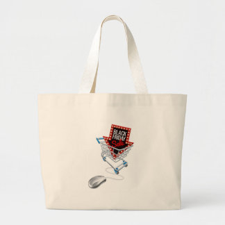 Black Friday Sale Online Trolley Computer Mouse Large Tote Bag