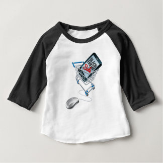 Black Friday Sale Phone Trolley Mouse Sign Baby T-Shirt