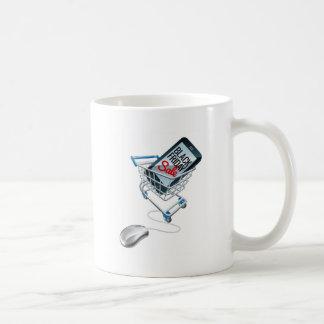 Black Friday Sale Phone Trolley Mouse Sign Coffee Mug