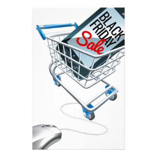 Black Friday Sale Phone Trolley Mouse Sign Stationery