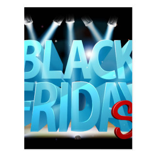 Black Friday Sale Stage Sign Postcard