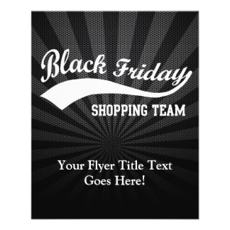 Black Friday Shopping Team Flyer