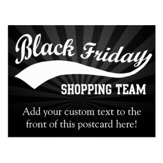 Black Friday Shopping Team Postcard