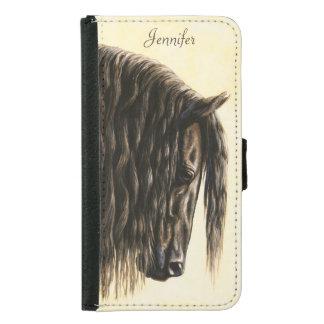 Black Friesian Draft Horse Samsung Galaxy S5 Wallet Case