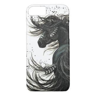 Black Friesian Horse iPhone 7 Case