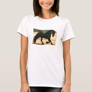 Black Friesian Horse T-shirt