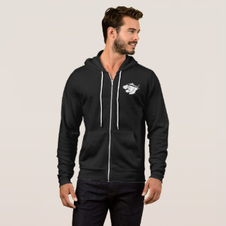 Black full-zip hoodie with white NinjaBear logo