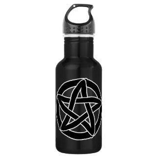 Black Fun Pentacle 532 Ml Water Bottle