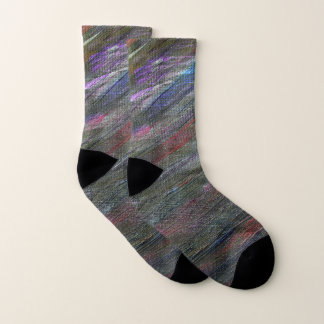 Black Galaxy Abstract Socks 1
