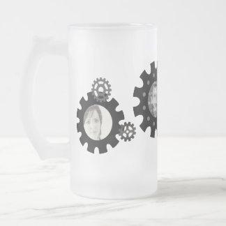 Black Gears Photo Template Mug