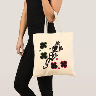 Black Gecko Tropical Tribe Tote Bag