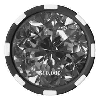 Black Gem Stone Filter Clay Poker Chip Stripe Edge