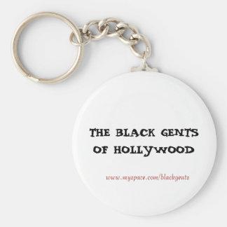 Black gents ( key chain) basic round button key ring