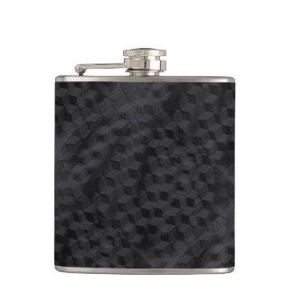 Black geometric flask