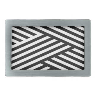 Black Geometric Stripes Abstract Pattern Belt Buckles