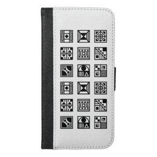 Black geometrical tribal pattern iphone case