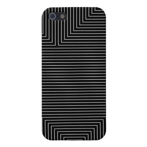 black geometry white lines minimal abstract iPhone 5 cases