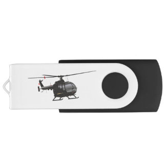 Black German Light Helicopter Flash Drive