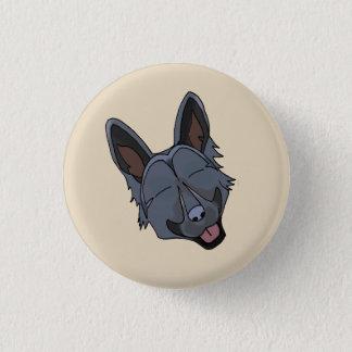 Black German Shepherd Dog Smiling 3 Cm Round Badge