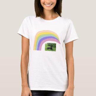 Black German Shepherd Rainbow T-Shirt