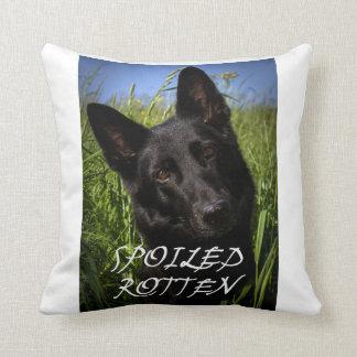 black german shepherd spoiled rotten cushion