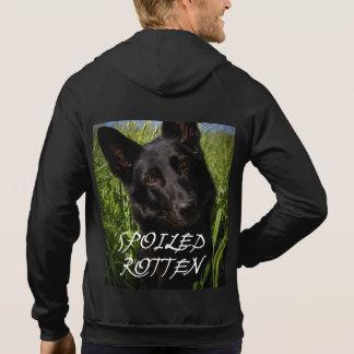 black german shepherd spoiled rotten hoodie