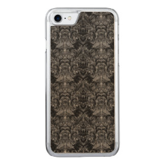 Black Ghost Shadow Blur Damask Illusion Carved iPhone 7 Case