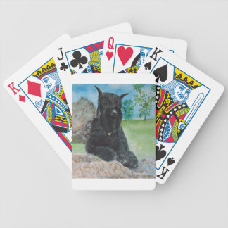 Black Giant Schnauzer Bicycle Playing Cards