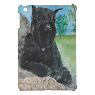 Black Giant Schnauzer Case For The iPad Mini