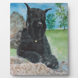 Black Giant Schnauzer Plaque