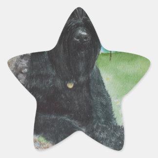 Black Giant Schnauzer Star Sticker
