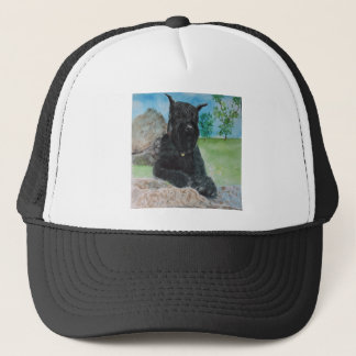 Black Giant Schnauzer Trucker Hat