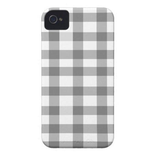 Black Gingham Blackberry Case