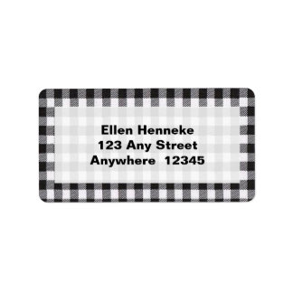 Black Gingham Label