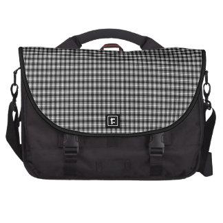 Black Gingham Plaid Commuter Bag