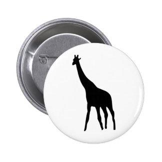 black giraffe icon 6 cm round badge