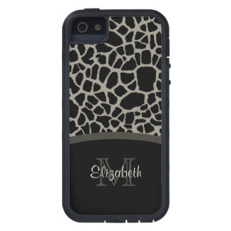Black Giraffe Pattern iPhone 5 Covers