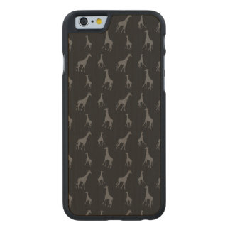 Black giraffes carved® maple iPhone 6 case