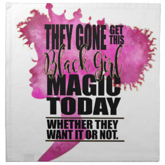 Black Girl Magic Affirmation Napkin
